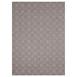 SimplyShade Lattice Outdoor Rug in Charcoal