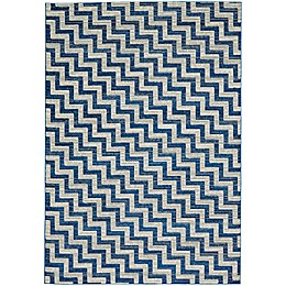 Feizy Caslon Stairs Area Rug in Blue