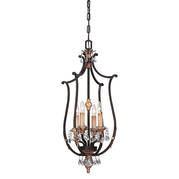 Alternate image 1 for Metropolitan Home Bella Cristallo 4-Light Pendant in French Bronze