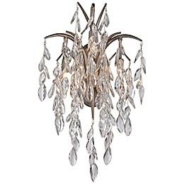 Metropolitan Bella Flora 3-Light Wall Sconce in Silver Mist