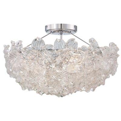Metropolitan Bella Flora 4 Light Semi Flush Mount Ceiling Fixture In Chrome Bed Bath Amp Beyond