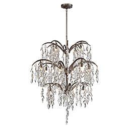 Metropolitan Bella Flora 16-Light Chandelier in Silver Mist