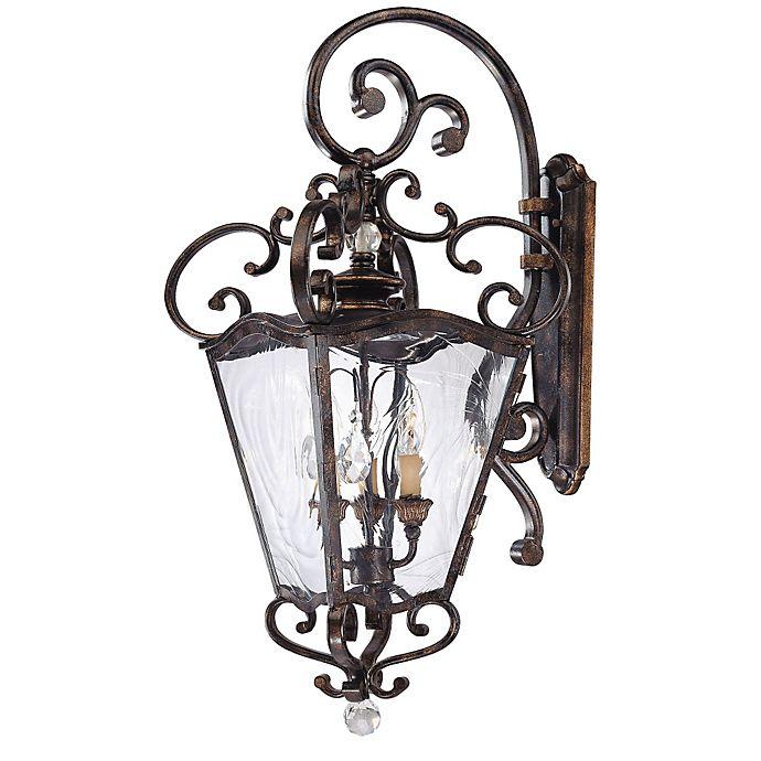 Alternate image 1 for Metropolitan® 3-Light Outdoor Lantern in Terraza Villa Aged Patina