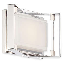George Kovacs® Crystal-Clear LED Bath Light with Polished Nickel Finish