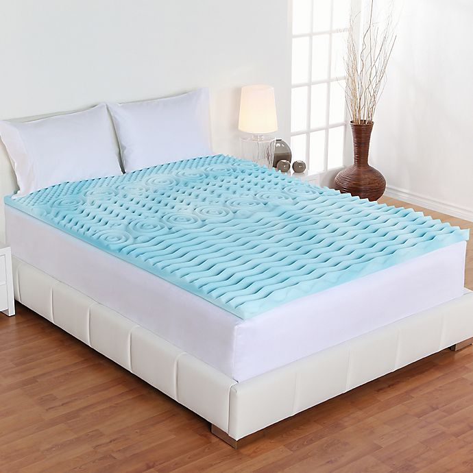 Alternate image 1 for Authentic Comfort® 3-Inch Orthopedic 5-Zone Foam Queen Mattress Topper