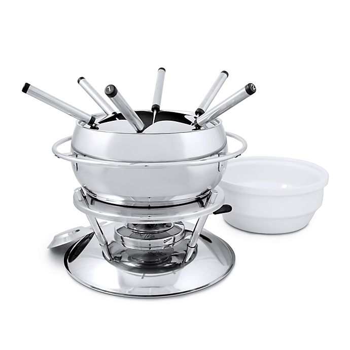 Alternate image 1 for Swissmar® Zuri 11-Piece Stainless Steel Fondue Set