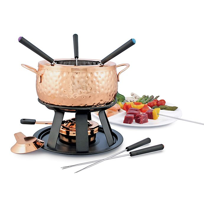 Alternate image 1 for Swissmar Biel 11-Piece Copper Fondue Set