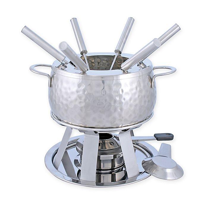 Alternate image 1 for Swissmar® Bienne 11-Piece Stainless Steel Fondue Set