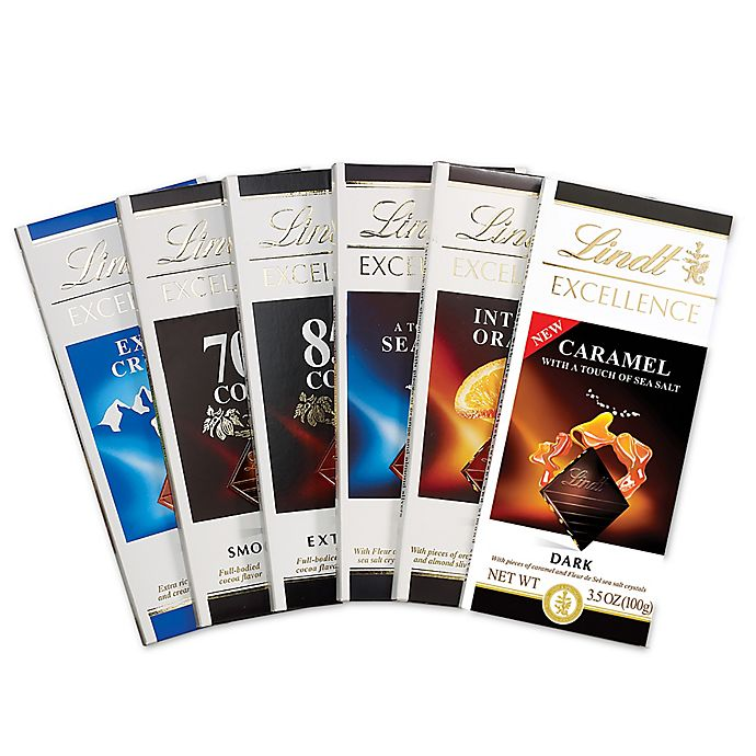 Lindt Excellence 6 Pack Assorted Bars Bed Bath Amp Beyond