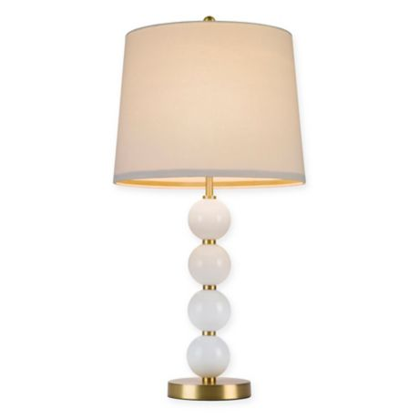 Cupcakes And Cashmere Stacked Ball Table Lamp With Cfl