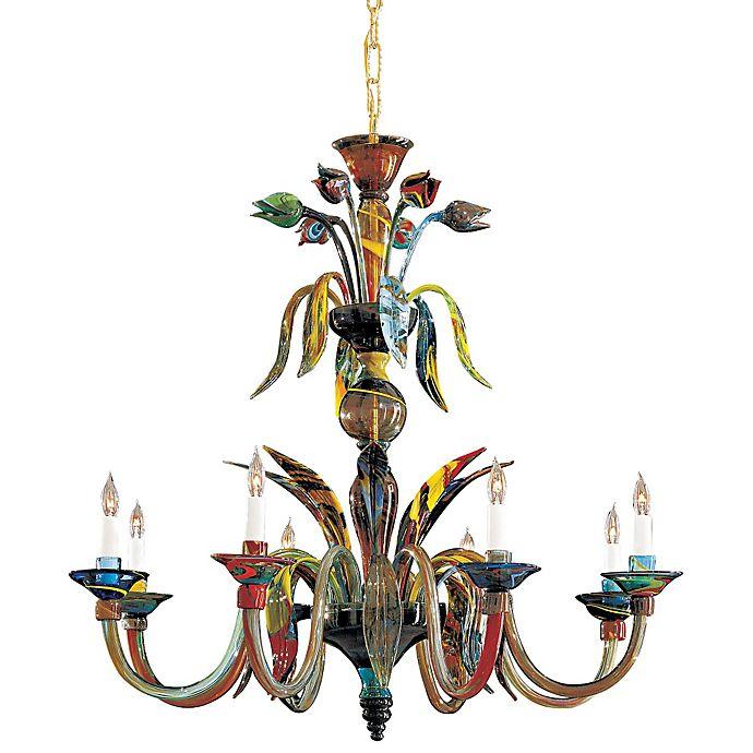 Alternate image 1 for Metropolitan® Lighting Fixture Company 8-Light Camer Chandelier