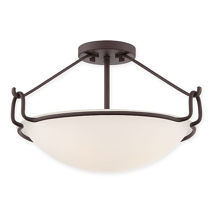 Quoizel Belcourt 3 Light Extra Large Semi Flush Mount Ceiling Fixture Bed Bath Amp Beyond