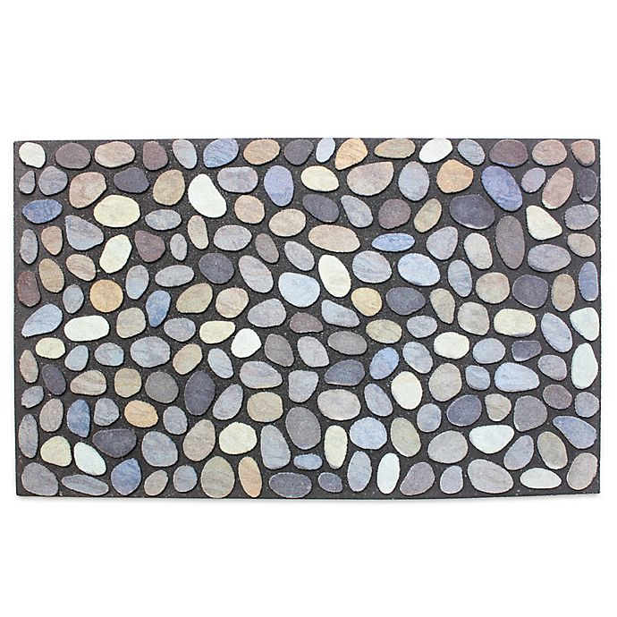 Alternate image 1 for J&M Home Fashions 18-Inch x 30-Inch Pebbles Door Mat