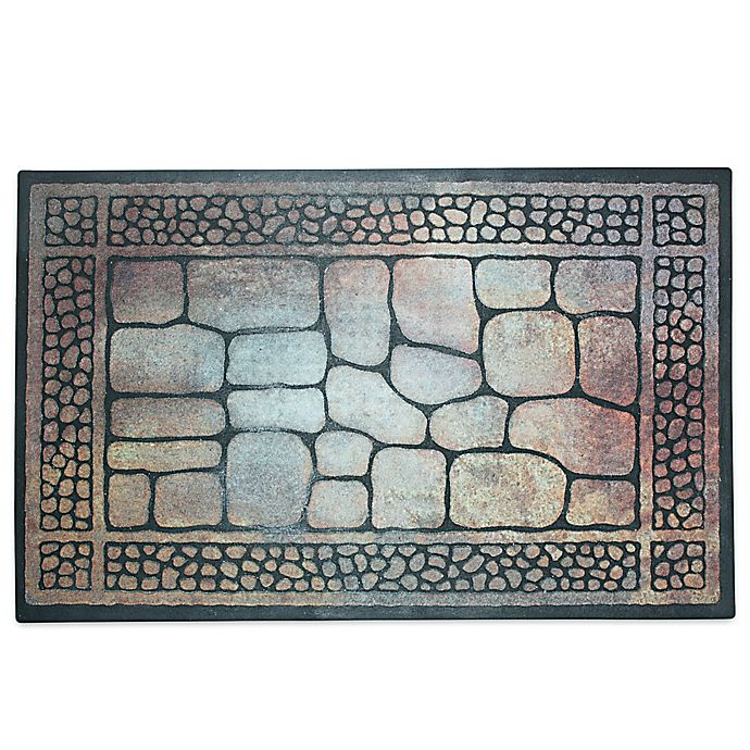 Alternate image 1 for J&M Home Fashions 23-Inch x 35-Inch Pebbles & Border Door Mat
