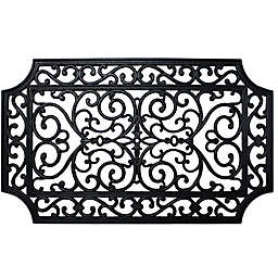 J&M Home Fashions 18-Inch x 30-Inch French Quarter Rubber Door Mat