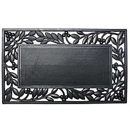 J&M Home Fashions 18-Inch x 30-Inch Leaf Border Door Mat