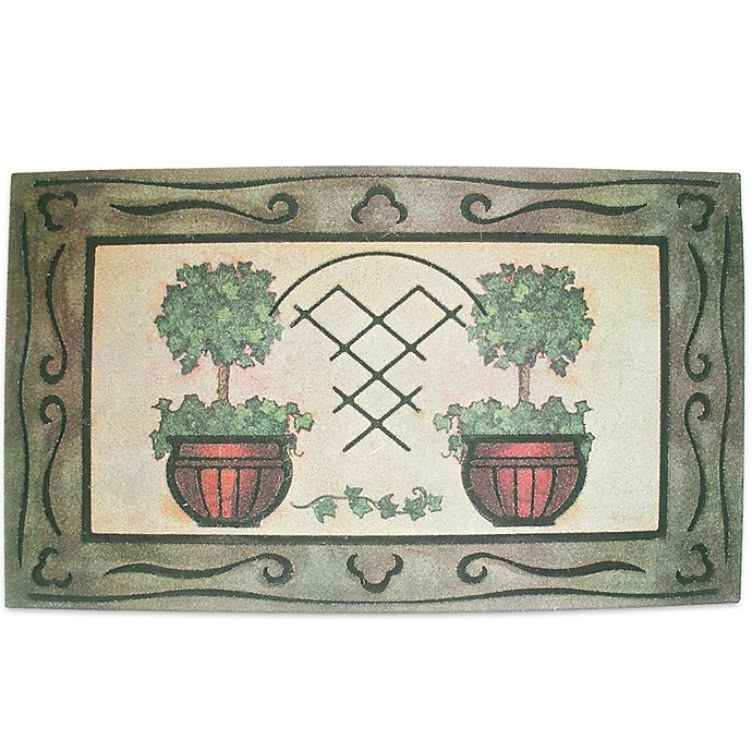 Alternate image 1 for J&M Home Fashions 18-Inch x 30-Inch Topiary Door Mat