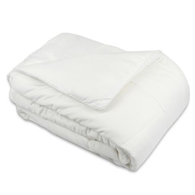 Queen Blanket in White Garment Washed Down Alternative Quilted Full