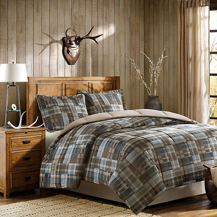 Alternate image 1 for Woolrich White River Twin Comforter Set in Brown