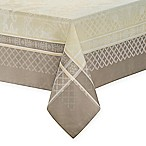 Waterford® Linens Wyman 70-Inch x 144-Inch Oblong Tablecloth in Taupe