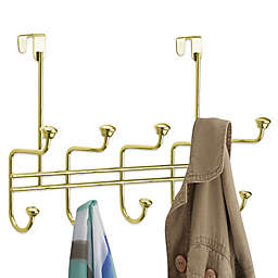 InterDesign® 10 Hook Over-the-Door Rack in Brass