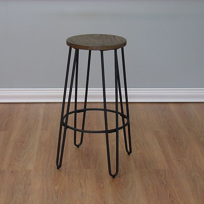 Wood Top Backless Bar Stool View A Larger Version Of This Product Image