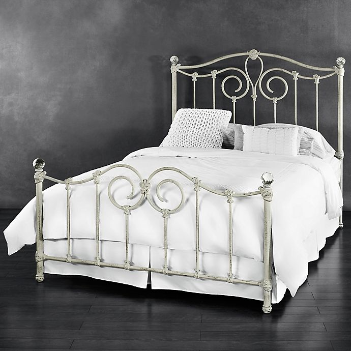 Alternate image 1 for Eldridge Iron Full Bed in Distressed White