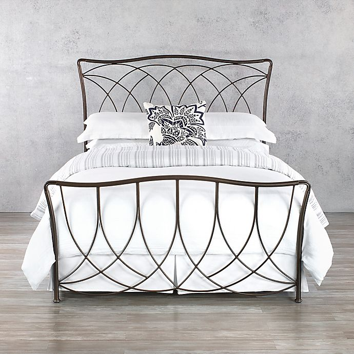 Alternate image 1 for Marin Iron Queen Bed Frame in Aged Steel