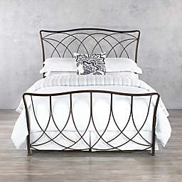 Marin Iron Bed Frame in Aged Steel