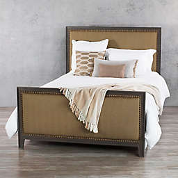 Avery Iron Complete Bed Frame in Aged Steel