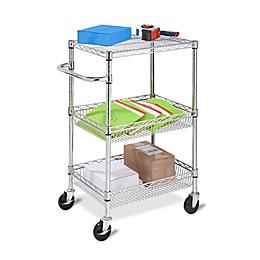 Honey-Can-Do® 3-Tier Urban Utility Cart in Chrome