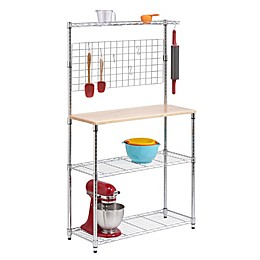Honey-Can-Do® 3-Tier Urban Baker's Rack in Chrome
