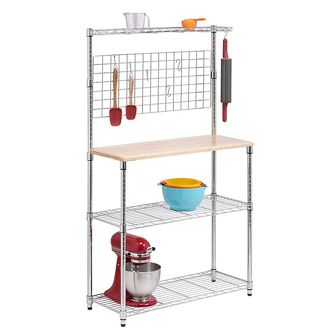 Alternate image 1 for Honey-Can-Do® 3-Tier Urban Baker's Rack in Chrome