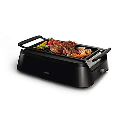 Philips Indoor Smokeless BBQ Grill in Black