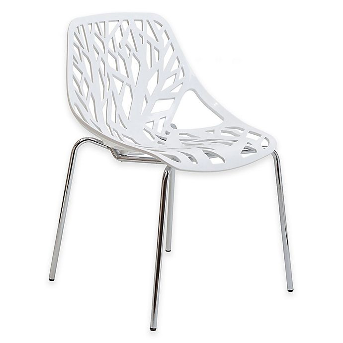 Alternate image 1 for Modway Stencil Dining Side Chair in White