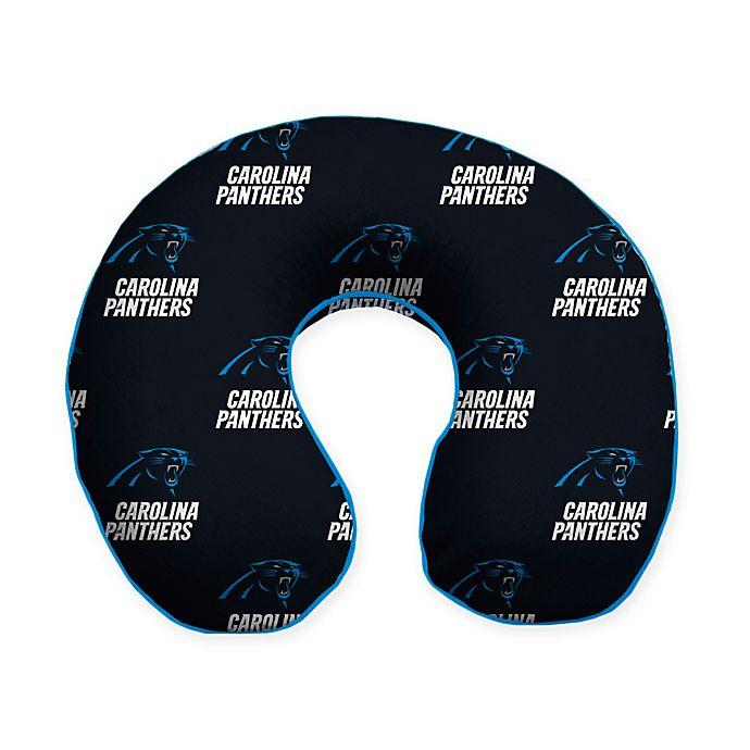 Alternate image 1 for NFL Carolina Panthers Memory Foam U-Shaped Neck Travel Pillow