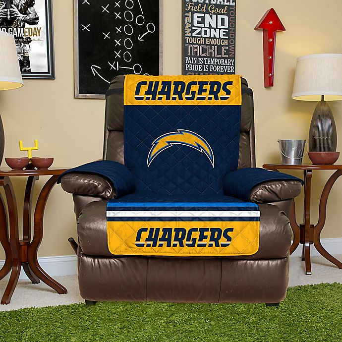 San Diego Chargers Chair: NFL Los Angeles Chargers Recliner Cover