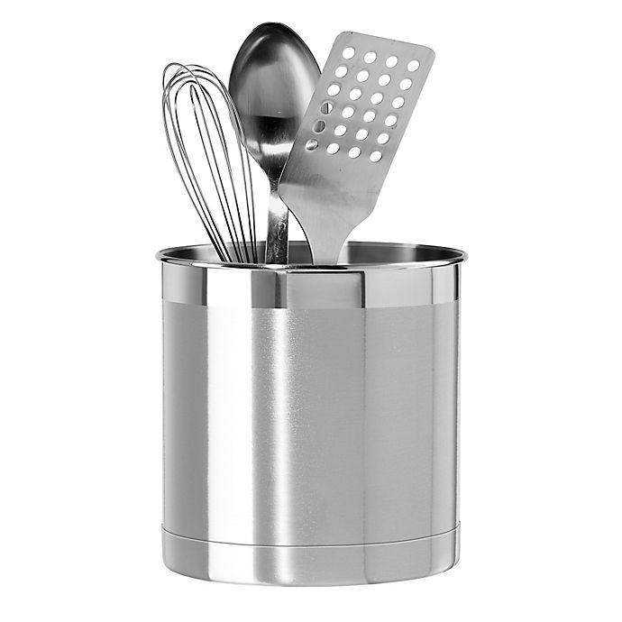 Alternate image 1 for Oggi™ Stainless Steel Jumbo Utensil Holder