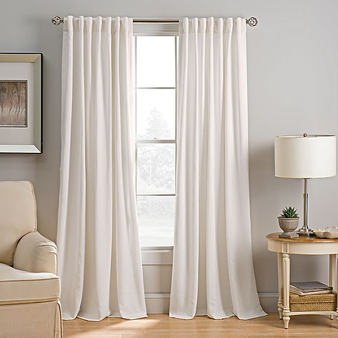 Alternate image 1 for Abbeville Rod Pocket/Back Tab Window Curtain Panel and Valance