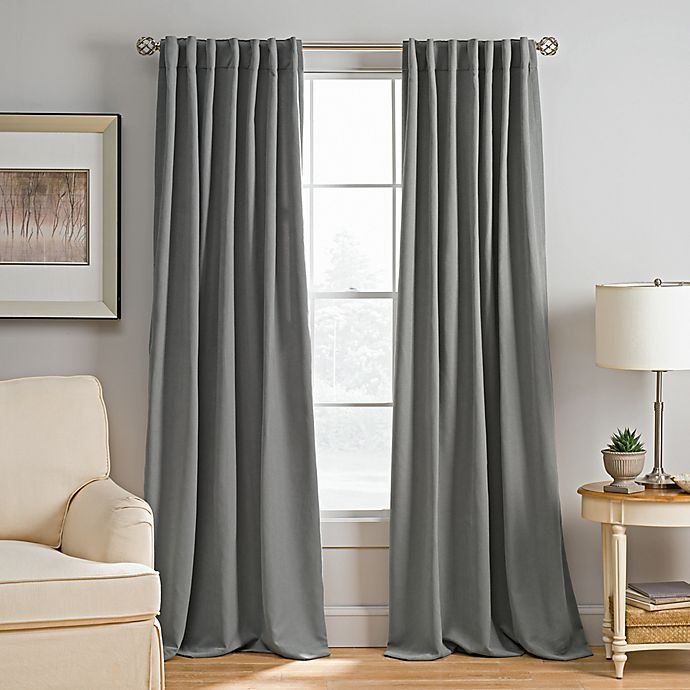 Alternate image 1 for Abbeville Rod Pocket/Back Tab Window Curtain Panel
