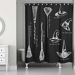 Witchify Shower Curtain in Black/White