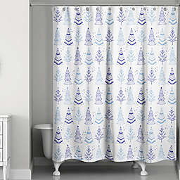 Trees Shower Curtain in White