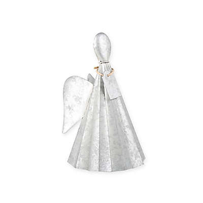 Beekman 1802 Heirloom Holiday 7-Inch Galvanized Angel in Metallic Silver