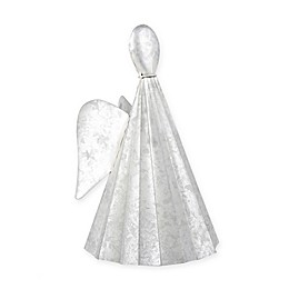 Beekman 1802 Heirloom Holiday 10-Inch Galvanized Angel in Metallic Silver