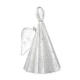 Beekman 1802 Heirloom Holiday 10-Inch Galvanized Angel in Metallic Silver