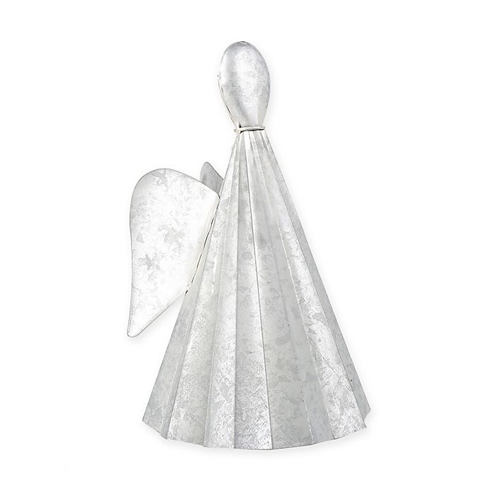 Alternate image 1 for Beekman 1802 Heirloom Holiday 10-Inch Galvanized Angel in Metallic Silver