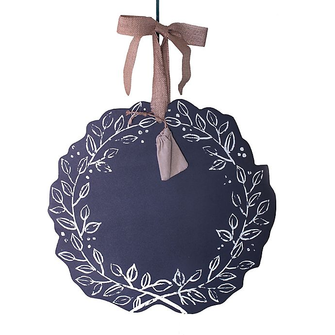 Alternate image 1 for Beekman 1802 Heirloom Holiday Reversible Chalkboard Wreath in Silver