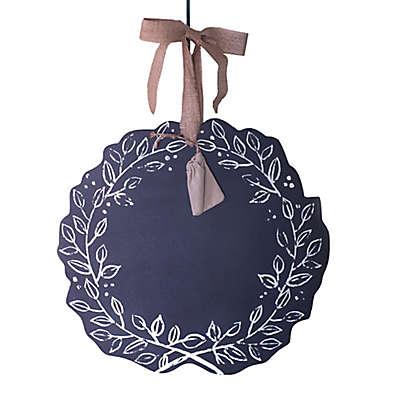 Beekman 1802 Heirloom Holiday Reversible Chalkboard Wreath in Silver
