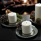 Beekman 1802 Heirloom Holiday Mirrored Galvanized Metal Pillar Candle Holders (Set of 3)