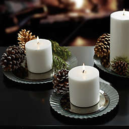 Beekman 1802 Heirloom Holiday Mirrored Galvanized Metal Pillar Candle Holders (Set of 3)